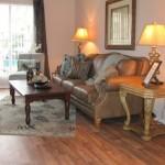 The Arbors Apartment Living Area