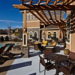 The District at Greenville Apartment Deck