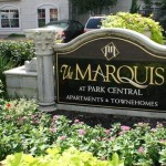 The Marquis at Park Central Apartment Community Sign