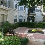 The Marquis at Park Central Apartment Garden View
