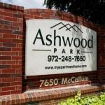 Ashwood Park Apartment Community Sign