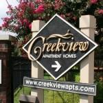 Creekview Apartment Community Sign