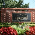 Hunters Hill Apartment Community Sign
