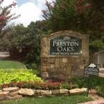 Preston Oaks Apartment Community Sign