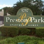 Preston Park Apartment Community Sign