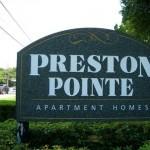 Preston Pointe Apartment Community Sign