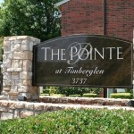 The Pointe at Timberglen Apartment Community Sign