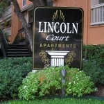 Lincoln Court Apartment Signage