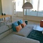 Mosaic Highrise Apartment Living Room
