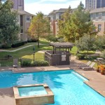 The Milo Apartment Pool Area